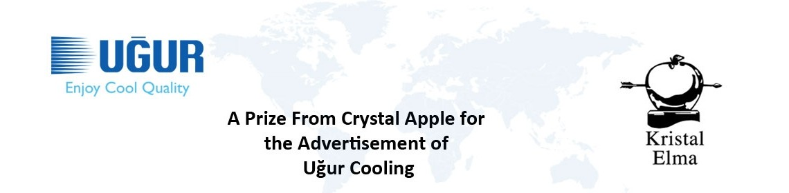 a prize from crystal apple for the advertisement of uğur cooling