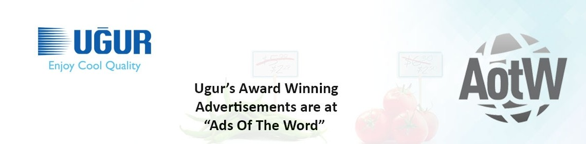 """uğur's award winning advertisements are at """"ads of the world""""!"""